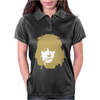Ronnie Wood Stones Rocker Faces Retro Womens Polo