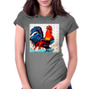 ROOSTER  DOODLE DO Womens Fitted T-Shirt