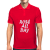 Rose All Day White Mens Polo