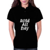 Rose All Day White Womens Polo