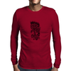 Rose in flames Mens Long Sleeve T-Shirt