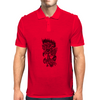 Rose in flames Mens Polo