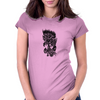 Rose in flames Womens Fitted T-Shirt