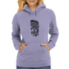Rose in flames Womens Hoodie