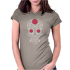 Rose Sugar Skull Womens Fitted T-Shirt