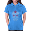 Rose Sugar Skull Womens Polo