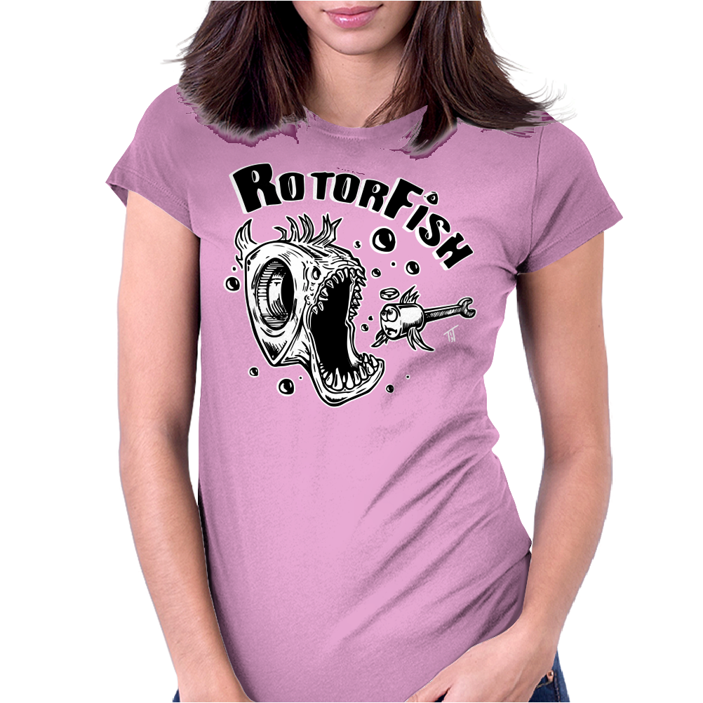 Rotor Fish Womens Fitted T-Shirt