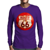 Route 66 Sign Distressed, Ideal Birthday Gift or Present Mens Long Sleeve T-Shirt