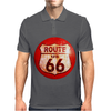 Route 66 Sign Distressed, Ideal Birthday Gift or Present Mens Polo