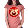 Route 66 Sign Distressed, Ideal Birthday Gift or Present Womens Fitted T-Shirt