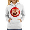 Route 66 Sign Distressed, Ideal Birthday Gift or Present Womens Hoodie