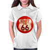 Route 66 Sign Distressed, Ideal Birthday Gift or Present Womens Polo