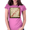Royal7y 4 Life red Womens Fitted T-Shirt