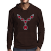 Ruby and Diamond Necklace Mens Hoodie