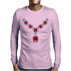 Ruby and Diamond Necklace Mens Long Sleeve T-Shirt