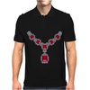 Ruby and Diamond Necklace Mens Polo