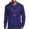 Ruby bow and diamonds necklace Mens Hoodie