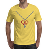 Ruby bow and diamonds necklace Mens T-Shirt