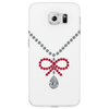 Ruby bow and diamonds necklace Phone Case