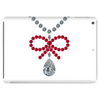 Ruby bow and diamonds necklace Tablet