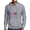 Ruby Bow Necklace Mens Hoodie
