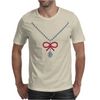 Ruby Bow Necklace Mens T-Shirt