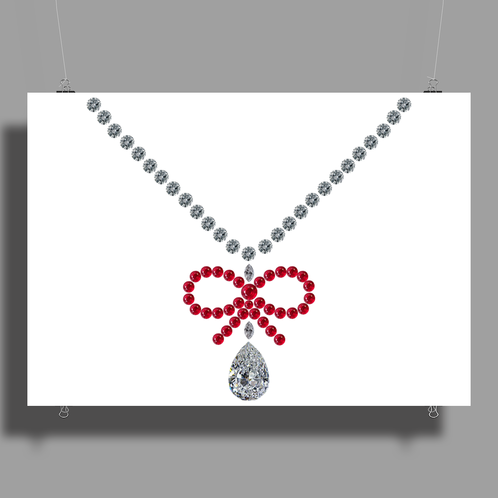 Ruby Bow Necklace Poster Print (Landscape)