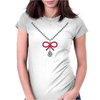 Ruby Bow Necklace Womens Fitted T-Shirt