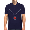 Ruby Pendant Necklace Mens Polo