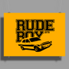 Rude Boy 1979 Ford Escort Men's Classic Car Poster Print (Landscape)