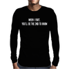 Rude Fart Mens Long Sleeve T-Shirt