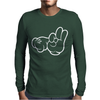 Rude Hands, Ideal Gift or Birthday Present. Mens Long Sleeve T-Shirt