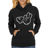 Rude Hands, Ideal Gift or Birthday Present. Womens Hoodie