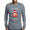 Rude Santa Father Christmas Mens Long Sleeve T-Shirt
