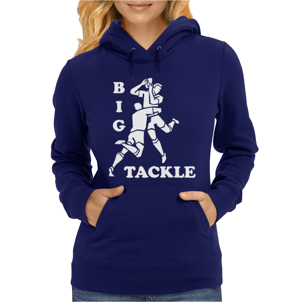 Rugby Big Tackle Womens Hoodie