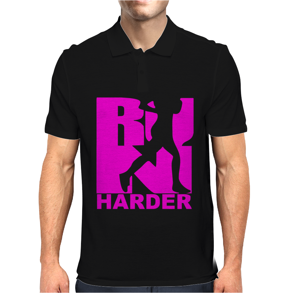 RUN Harder gym workout Mens Polo