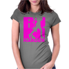 RUN Harder gym workout Womens Fitted T-Shirt