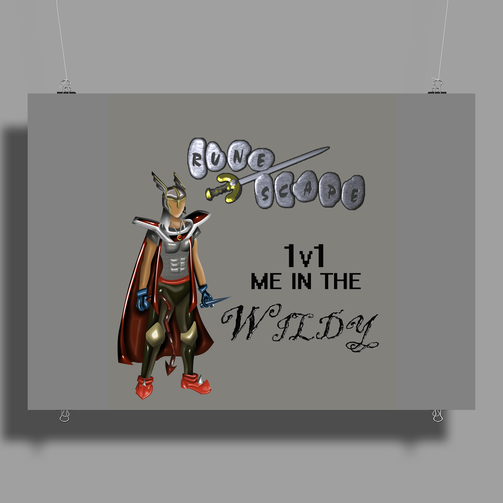 Runescape 1v1 me in the Wildy Poster Print (Landscape)