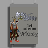 Runescape 1v1 me in the Wildy Poster Print (Portrait)
