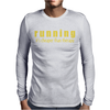 Running it's cheaper than therapy Mens Long Sleeve T-Shirt