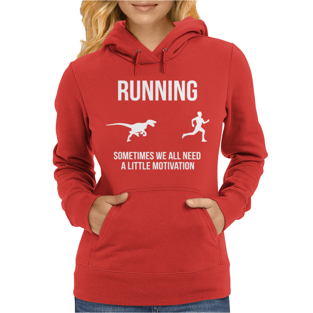 Running Motivation Raptor Womens Hoodie