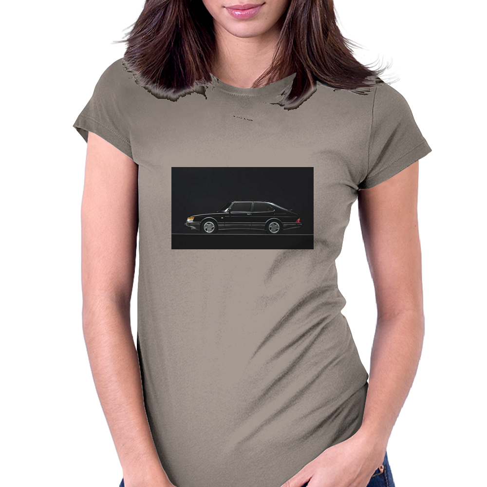 Saab 900 Womens Fitted T-Shirt