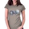 Sack Tail Bob Cat Womens Fitted T-Shirt