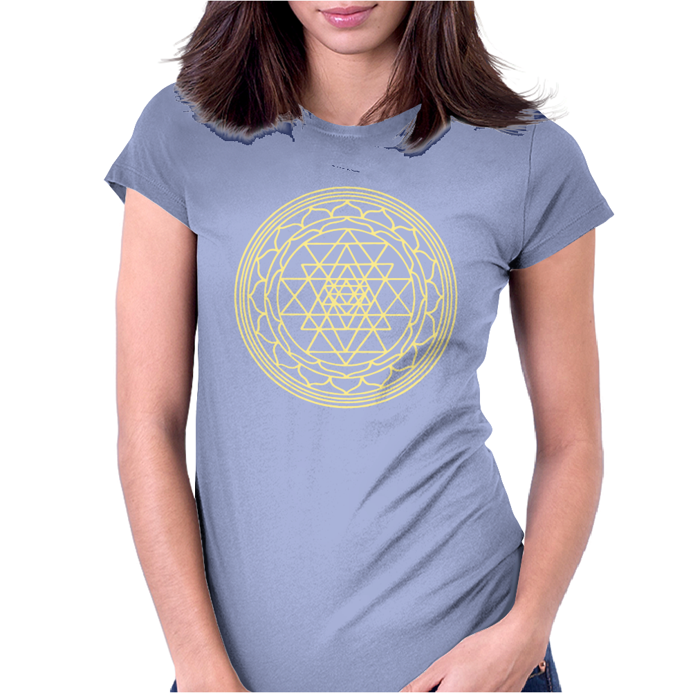 Sacred Geometry Sri Yantra Womens Fitted T-Shirt
