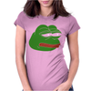 Sad Frog Womens Fitted T-Shirt