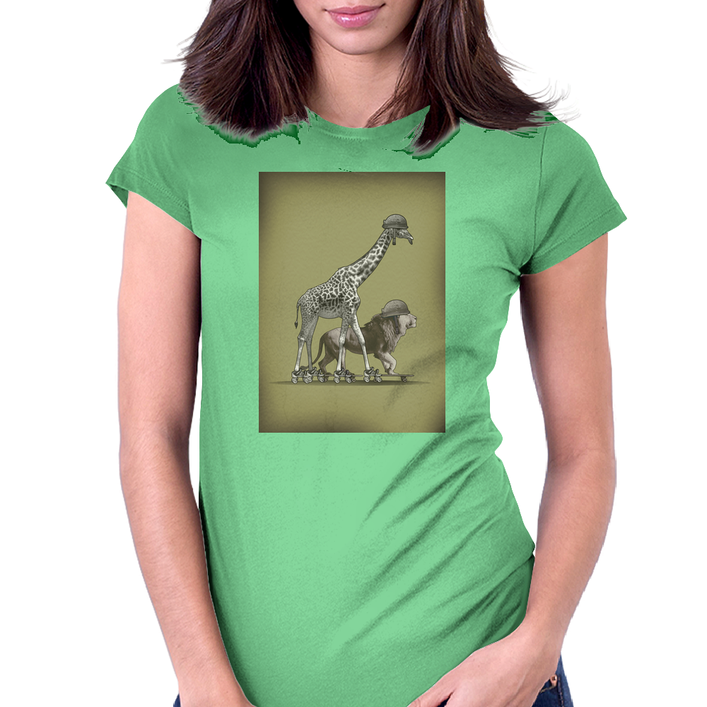 SAFARI HUMOUR Womens Fitted T-Shirt