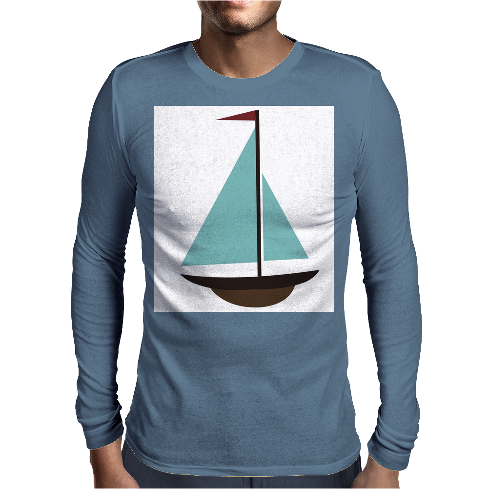 Sailboat Mens Long Sleeve T-Shirt