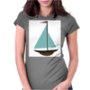 Sailboat Womens Fitted T-Shirt