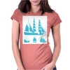 Sailing Boats Womens Fitted T-Shirt
