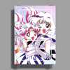Sailor Chibi Moon and Saturn White Version Poster Print (Portrait)